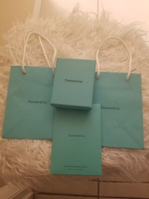 Tiffany bags, boxes and silver polishing cloth for Sale in Zephyrhills, FL