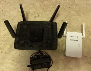 Linksys EA8300 Router and Netgear EX6100v2 WiFi Extender for Sale in La Mesa, CA