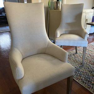 2 Cream Chairs for Sale in Santa Clara, CA