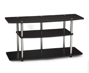 Black and silver TV stand for Sale in Arlington, VA