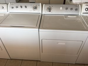 Whirlpool washer & Electric Dryer. CREDIT CARDS WELCOME.. for Sale in El Paso, TX