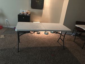 4 White folding tables for Sale in Duluth, GA