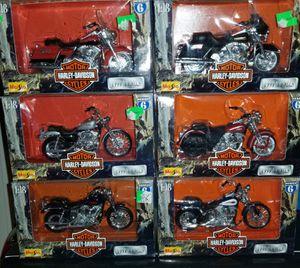 Used, Maisto Harley Davidson series 6Lot of 6 motorcycles 1:18 Harley Davidson diecast 1999 for Sale for sale  Dalzell, SC