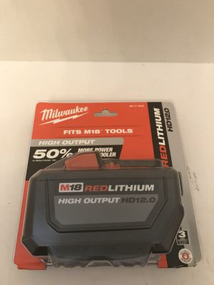 Milwaukee m18 High Output 12.0ah battery for Sale in Orlando, FL
