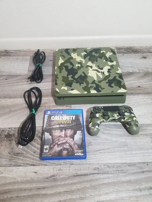 🚩 Ps4 Playstation 4 Slim 1000gb Call of Duty WWII Limited Edition 🚩 for Sale in Phoenix, AZ