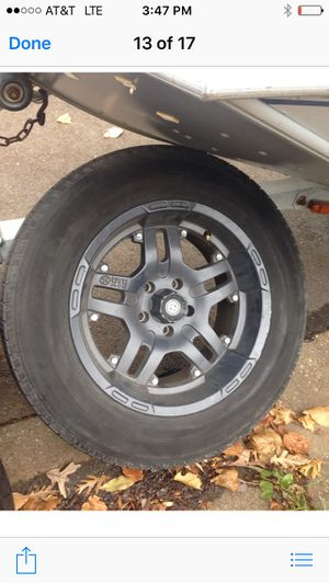 Reduced for a quick sale !!!!!4 Tires and wheels for Jeep for Sale in Silver Spring, MD