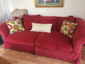Red couch for Sale in Columbus, OH
