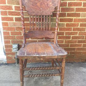 Antique Vintage Carved Wood Chair for Sale in Arlington, VA