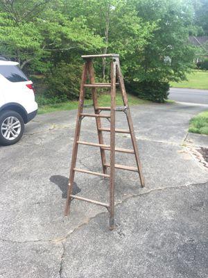 6ft Wooden Ladder for Sale in Alpharetta, GA
