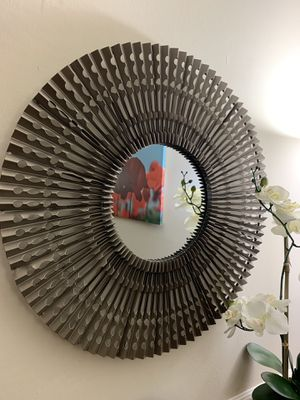 Beautiful iron wall mirror 26 inches diameter for Sale in UNIVERSITY PA, MD