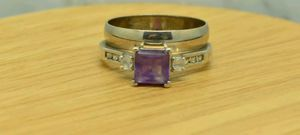 10kt Gold Amethyst Wedding Set rings for Sale in Gaithersburg, MD