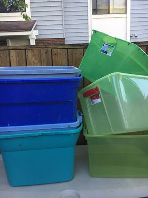 Storage bins without lids for Sale in Germantown, MD