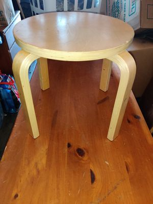 Wooden circle kids stool chair for Sale in Erie, PA