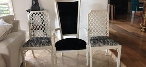6 real wood, newly upholstered chairs for Sale in Austin, TX