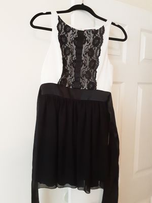 White Lacey and black silk dress for Sale in Hendersonville, TN