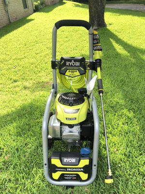 RYOBI 3300 PSI 2.3 GPM Cold Water Gas Pressure Washer with Honda GCV190 Idle Down for Sale in Arlington, TX