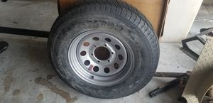 (2) NEW 225 75 15 trailer rims and tires 6 lug for Sale in Spring Hill, FL