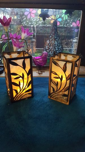 Outdoor or indoor lantern type with Tea light candle for nice warm glow !!! for Sale in Shoreline, WA