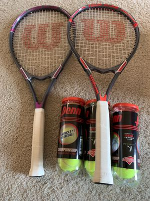 Wilson Adult Tennis Rackets Balls for Sale in Los Angeles, CA