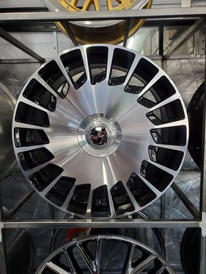Maybach mercedes style fan wheels black with machine face 20x8.5 and 20x9.5 fits a class S550 cls and e class wheel tire rim shop for Sale in Phoenix, AZ