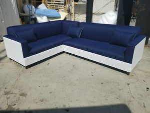 NEW 7X9FT DOMINO NAVY FABRIC COMBO SECTIONAL COUCHES for Sale in Lake Elsinore, CA