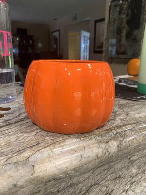"4"" Ceramic Pumpkin Pot For A Plant for Sale in Long Beach, CA"