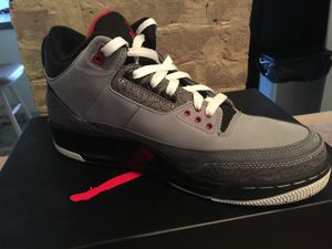 Jordan Retro 3 suede wolf grey for Sale in Elmont, NY