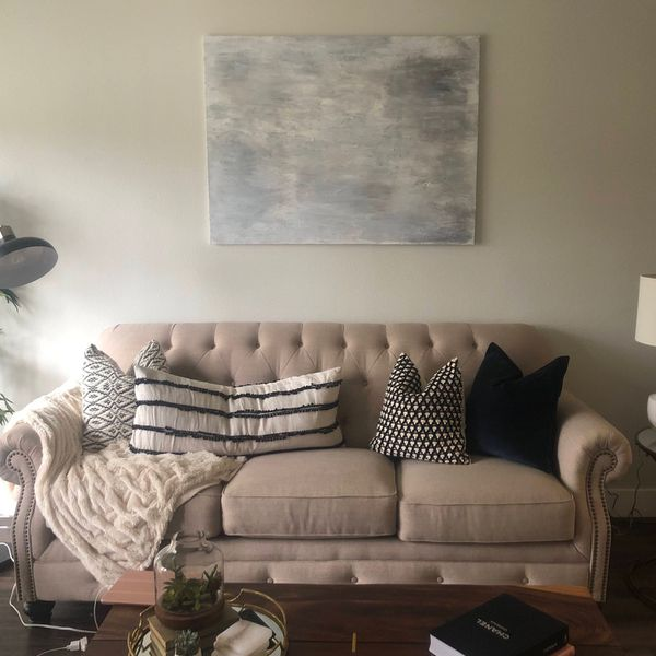 Gently Used- Light Beige - Ashley Furniture Couch