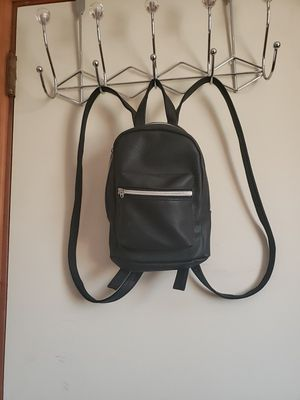 Black faux leather mini backpack for Sale in Hermitage, TN