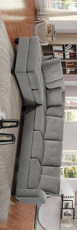 Emilio taupe sectional sofa for Sale in Houston, TX