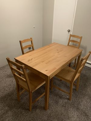 IKEA Jokkmokk dining sets, table and 4 chairs for Sale in Renton, WA