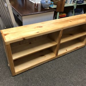Solid Pine Handcrafted Low Bookshelves/10x60x25 for Sale in Grayson, GA