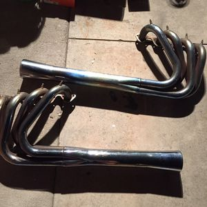 Bassett chrome inverted 460BBF headers water injected for Sale in Long Beach, CA