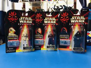 Hasbro Star Wars Episode 1 - Battle Droid Saber Damage Action Figure, Queen Amidala and Darth Sidious talking figures 3 figures set. for Sale in Hawthorne, CA