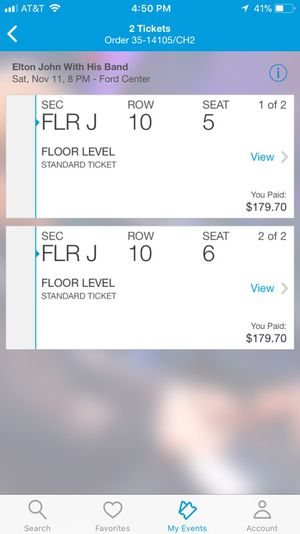 Elton John FLOOR SEATS!! for Sale in Evansville, IN