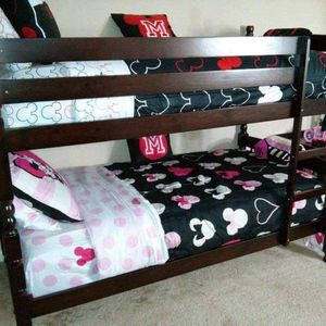 $499.00 (New In Boxes) Twin/Twin Cappuccino Bunk Bed Frames With Mattresses for Sale in Atlanta, GA