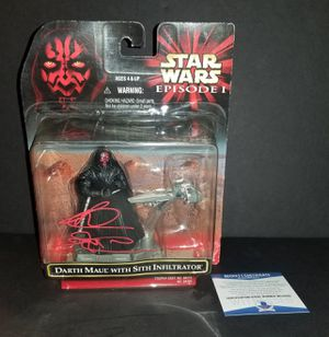 🔥 Ray Park autographed action figure Beckett Witness COA 🔥 for Sale in El Mirage, AZ