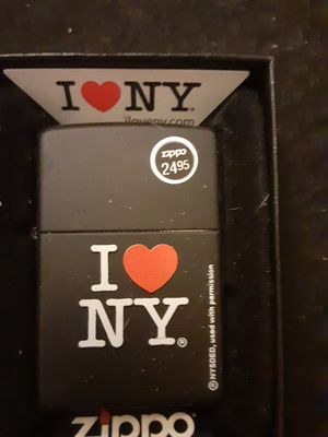 Original collectible Zippo candle lighter I love New York an open and sealed in the original box for Sale in North Las Vegas, NV