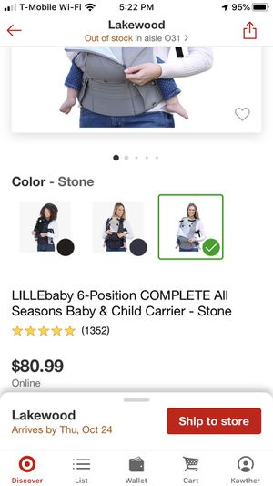 New lillebaby 6 position Complet all season breathable 3D Mesh for Sale in Lakewood, CO