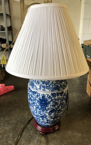 Lamp Blue and White pattern for Sale in Orlando, FL