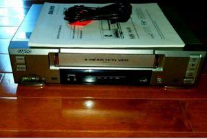 Sanyo 4-Head Hi-fi VCR for Sale in Wichita, KS