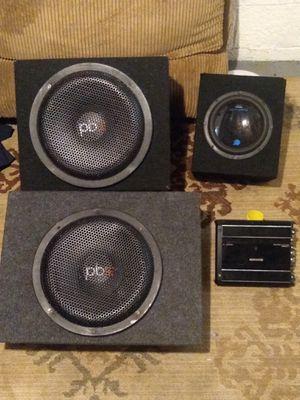 12 sub 12 speaker 6 speaker amp for Sale in Columbus, OH