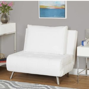 White Leather Futon Chair for Sale in Raleigh, NC