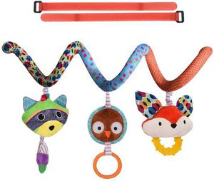Baby Car Seat Toys, Infant Boy Girl Stroller Hanging Teething Rattle Learning Spiral Toy Newborn Soft Crib Play Gym Travel Accessories for 0 3 6 9 to for Sale in Pomona, CA