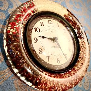 Decorative wall accent condiments clock W8xD1.5 inch Lbs 1.6 for Sale in Chandler, AZ