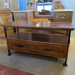 Wood and Iron Compact TV Stand for Sale in Auburn,  WA