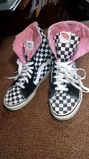 Vans super sk8-hi checkered shoes for Sale in Louisville, OH
