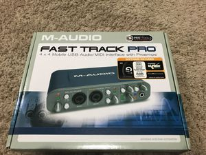 M-Audio Fast Track Pro USB Audio/MIDI Interface for Sale in Huntsville, AL