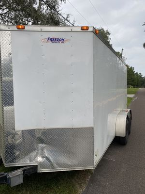2016 7 x 14 enclosed cargo trailer double axel for Sale in Lutz, FL