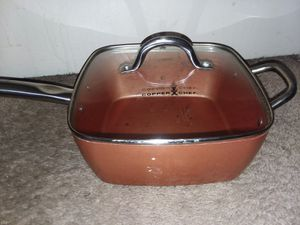 "Copper Chef Square Fry Pan with Glass Lid - 9.5"" for Sale in Hyattsville, MD"